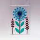 Fused Glass Single Turquoise Allium Hanging - Handmade Glass Suncatcher