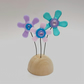 Fused Glass Happy Hippy Flowers (Pastels) - Handmade Fused Glass Sculpture