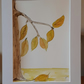 Autumn Branch original watercolour on paper in white mount ready to frame