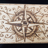 Hand Pyrographed Tarot and Oracle Box