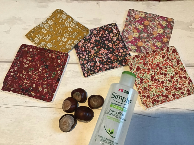 Autumn Glory Reusable Eco make up or face wipes