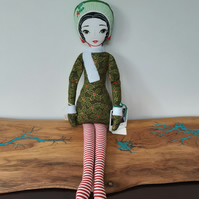 Autumn Whimsy fabric doll