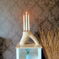 driftwood candle holder candelabra table centrepiece