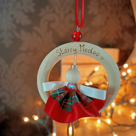 Tree Decoration christmas woodland fairy scottish tartan Starry McDoo