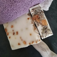 Flower Buff Bar Soap - English Lavender, Geranium & Tea Tree