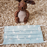 Adult face covering – 'Hello Little Bunny' print