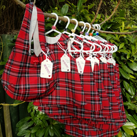 Age: 6-12m. Red Tartan Check Needlecord dress.