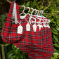 Age: 2-3y. Red Tartan Check Needlecord dress.