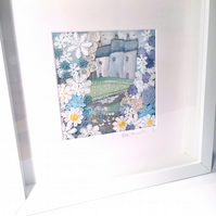 picture, wall art, little houses and a garden