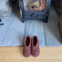 Felt Slippers - Rust (made to order)