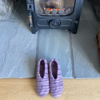 Felt Slippers - Lilac (made to order)