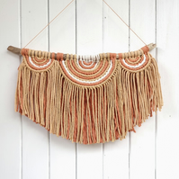 Macrame semi circle wall hanging