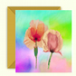 Spring Pastel Flowers Birthday Card, Poppies