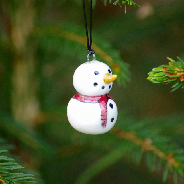 Snowman, Red Scarf (2 snowballs) - Decorations