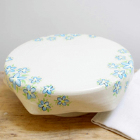 Cake Stand - Forget-Me-Not Flowers
