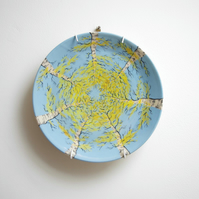 Side Plate - Yellow Autumn, Look Up Silver Birch Trees