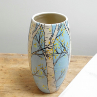 Large Vase - Autumn Silver Birch.