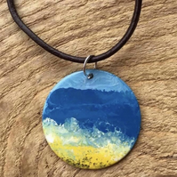 Hand painted Seascape Pendant