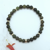 Jade and Gold Bead Bracelet