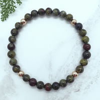 Dragon Blood Jasper Bead Bracelet