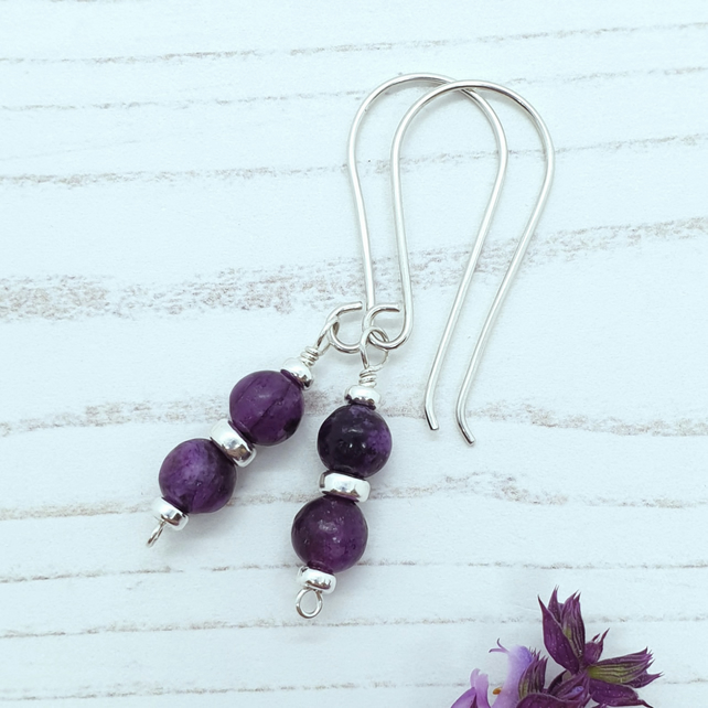 Lepidolite Bead Earrings