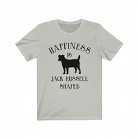 Happiness is Jack Russell Terrier shaped t-shirt