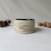 Small Vase or Candle Holder, Birch Bark Pattern