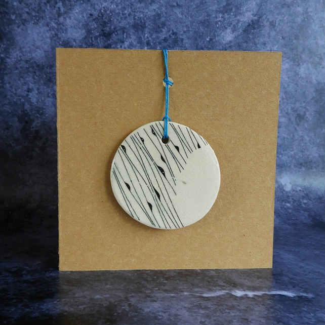 Hanging Moon Decoration on Card