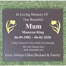 Engraved Black Granite Memorial Plaque Flat Grave Stone Grass Marker Headstone