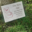 Baby Grave Marker Child Grave Plaque Grave Ornament Baby Grave Stone