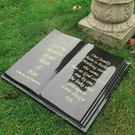 Granite Open Book Open Bible Memorial Stone Grave Plaque Grave FLAT HeadStone