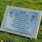 Replacement Laser Engraved Memorial Plaque Plate Non Fade Non Rust Plate