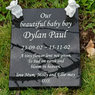 Flat Baby Grave Plaque Baby Headstone Flat Child Cemetery Stone  Grave Plaque