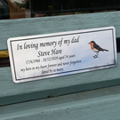Personalized Memorial Bench Plaque Remembrance Bench Plate Dedication Plaque