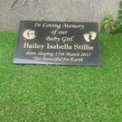 Baby memorial marker baby grave plaque Infant headstone