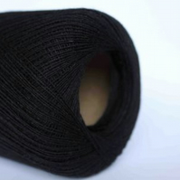 1ply cobweb Jamieson & Smith Shetland Lace Knitting Yarn 25g balls in Black