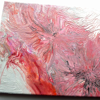 Dragons Fury - textured pink abstract art painting