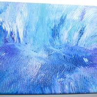 Reef Grinder - textured wave abstract art painting