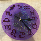 Astrology star sign glitter resin clock