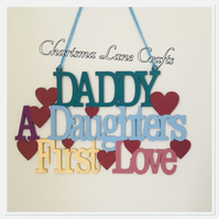 Handmade Daddy Daughter Sign