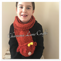 Hand Knitted Hetty The Highland Cow Kids Scarf