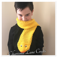 Hand Knitted Dizzy The Duck Kids Scarf