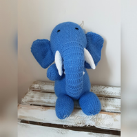 Hand Knitted Cuddly Ellie The Elephant