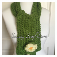 Hand Knitted Crazy Daisy Scarf