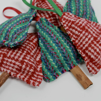 Harris Tweed Christmas Decoration, Tweed Tree Scented with Cloves