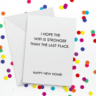 Stronger Wifi Funny New Home Card