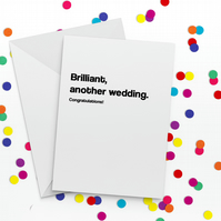Another Wedding Funny Wedding Card