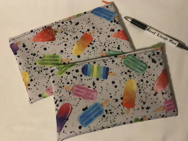 Mutli Coloured Lolly Pencil Case