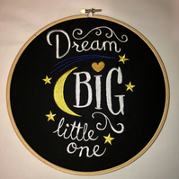 Hooped Embroidered Dream Big Little One
