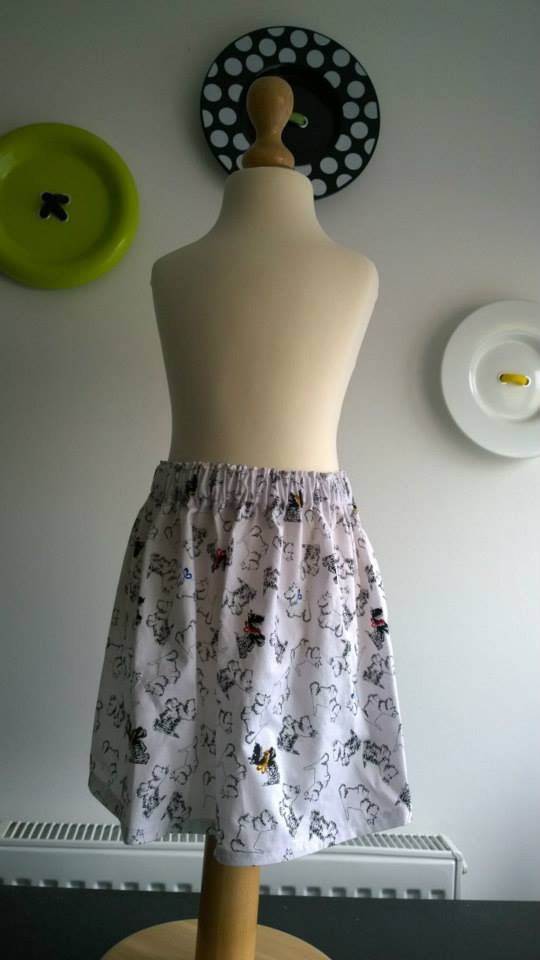 Black and White Doggy skirt